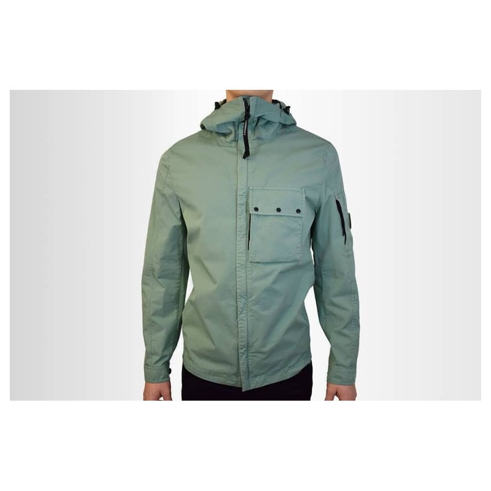 7771c201 C.P. COMPANY HOODED GABARDINE OVERSHIRT - Outerwear from Signature ...