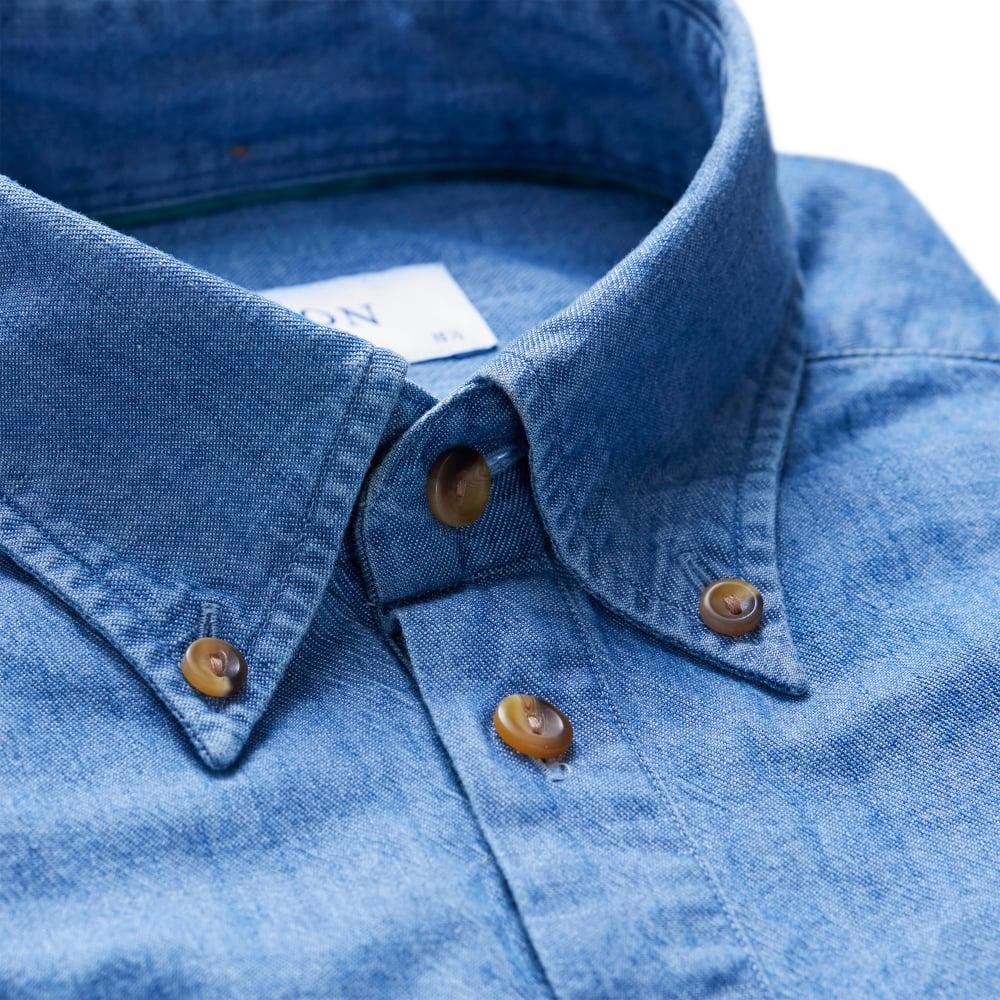 3d0bbc2cf72 ETON S S DENIM POPOVER - Shirts from Signature Menswear UK