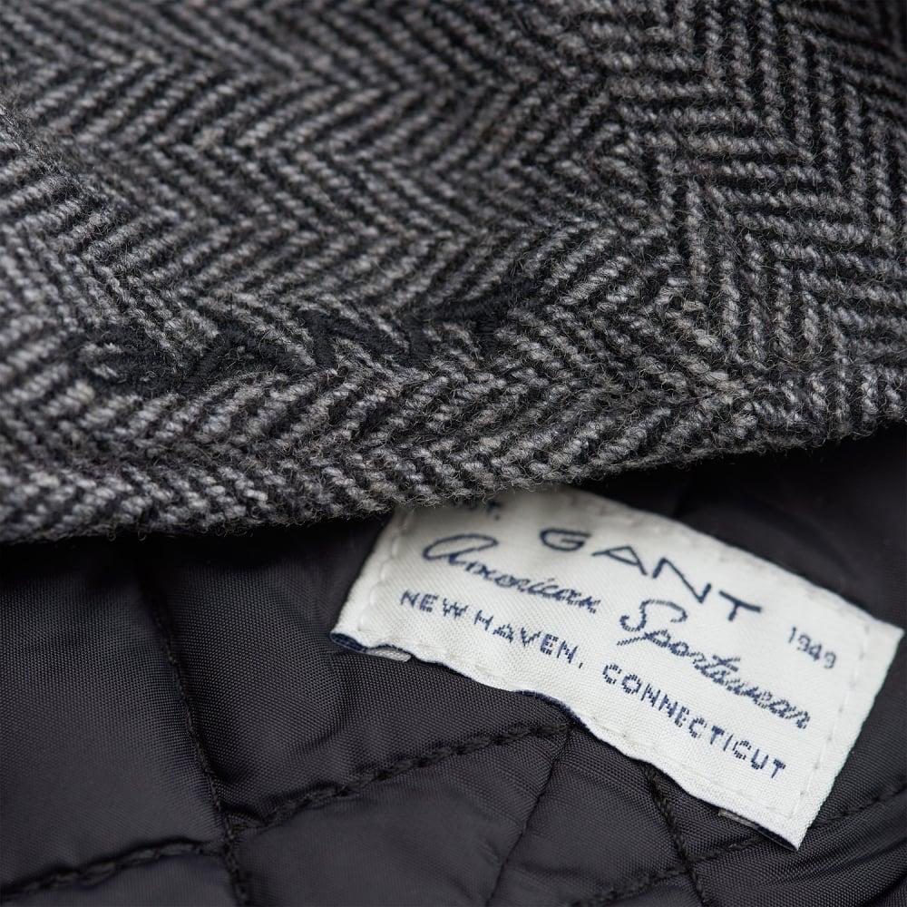 GANT HERRINGBONE DRIVERS CAP - Accessories from Signature Menswear UK 948450496a6