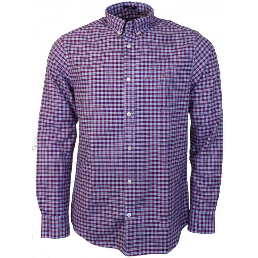 GANT O1. BRUSHED OXFORD CHECK REG BD - Shirts from Signature Menswear UK f24c768cc11c