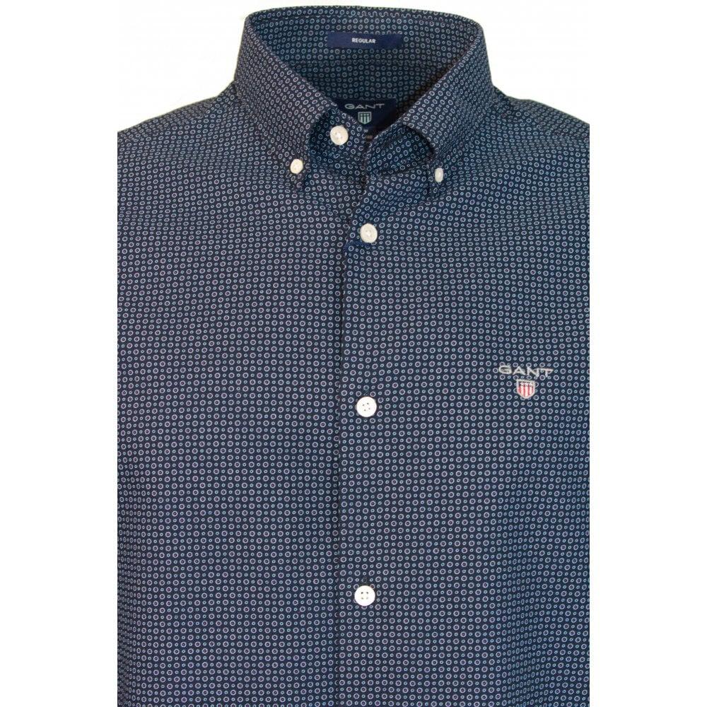 d8b2a173f GANT O1. MICRO CIRCLE PRINT REG BD - Shirts from Signature Menswear UK