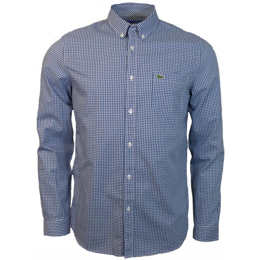0b837cb5ffe54 LACOSTE REG FIT CHECK POPLIN - Shirts from Signature Menswear UK